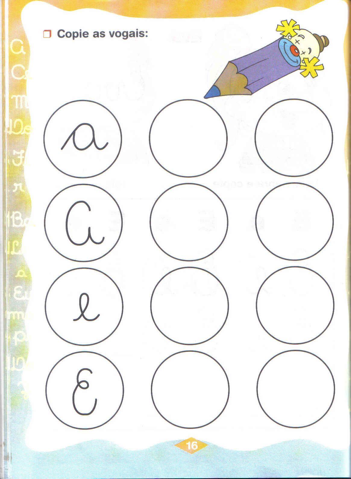 Atividades   Vogais Para Educa    O Infantil