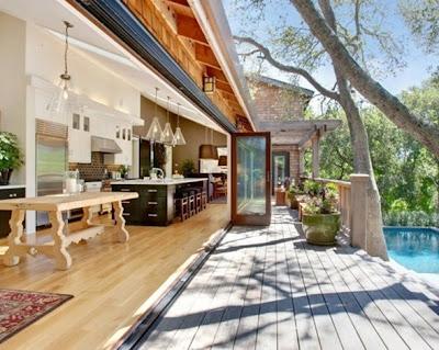 foto cocina en el patio