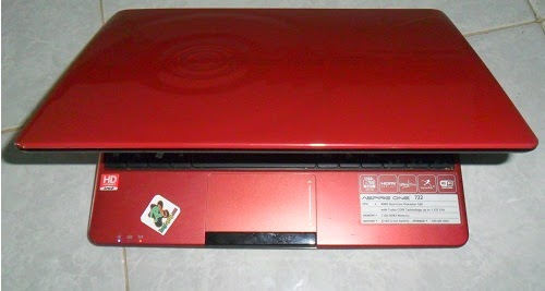 Acer Aspire One 722 AMD C60 Merah