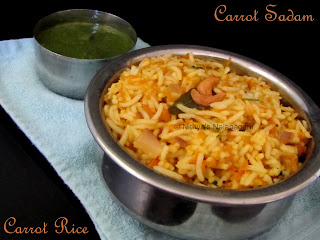 Carrot Rice | Carrot Sadam
