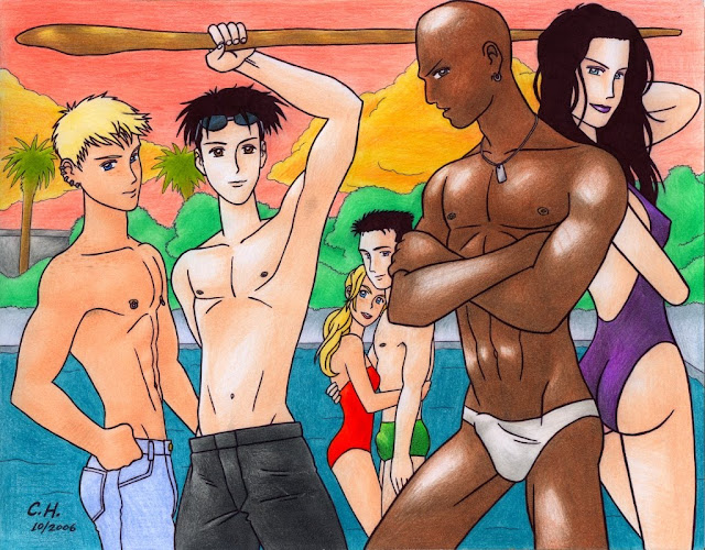 Young Avengers swimming pool
