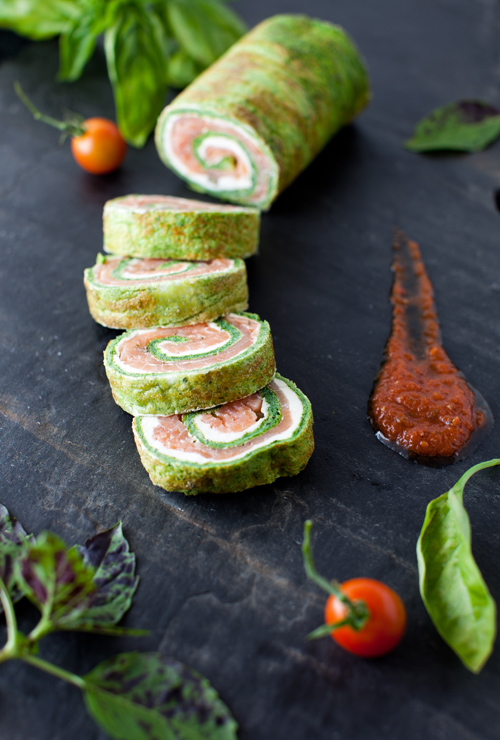 ... to Table - Spinach and Basil Smoked Salmon Roll at Cooking Melangery