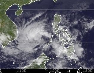 Pazifische Taifunsaison 2012: Tropisches Tief zwischen Philippinen und Vietnam wird potentiell zu PAKHAR (AMBO), Taifunsaison 2012, 2012, Philippinen, Vietnam, Taifunsaison, Februar, aktuell, Satellitenbild Satellitenbilder,