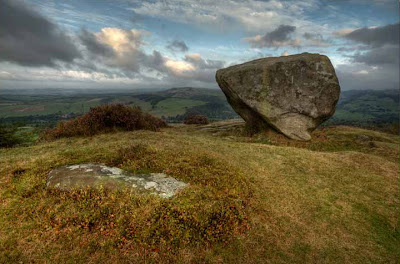 Baslow Edge Rock, Derbyshire, England
