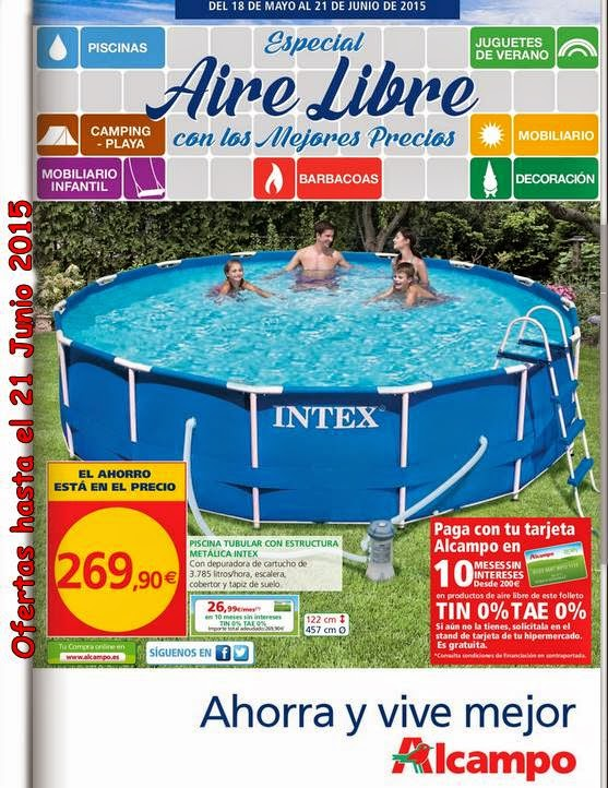 Catalogo alcampo muebles y piscinas verano 2015 for Piscinas hipercor catalogo