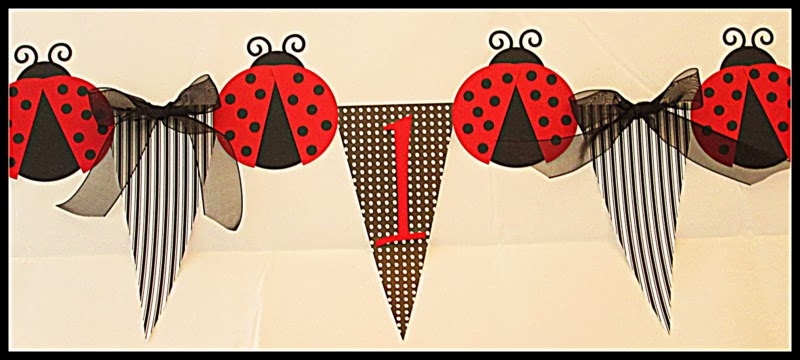 Ladybug Party Highchair Banner
