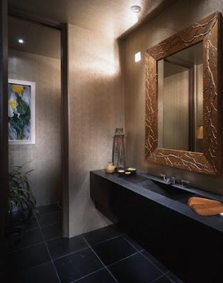 iluminação de lavabo