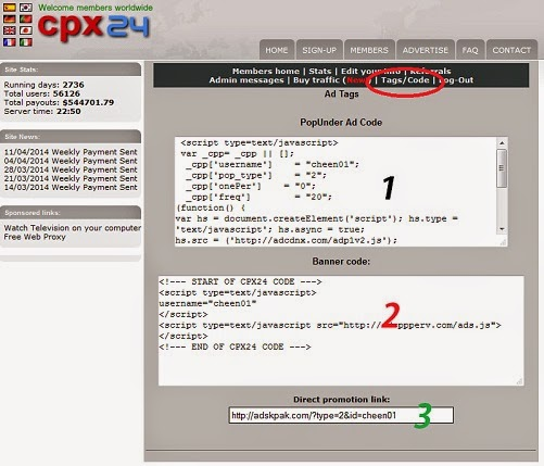 Tentang Program CPX24, cara program cpx24, CPM CPX24,Tips CPX24
