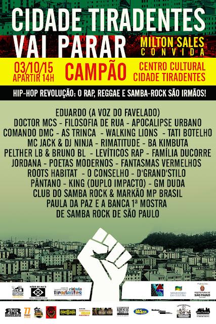 Shown: Eduardo,Doctors Mcs e Tati Botelho no  HIP-HOP REVOLUÇÃO #Gratis