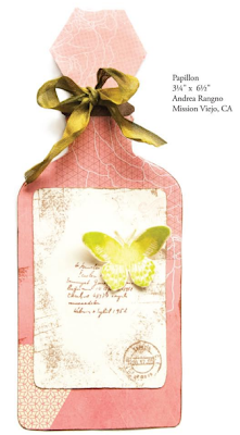 Perfume Shaped Card.