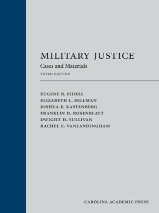 For your Military Justice bookshelf