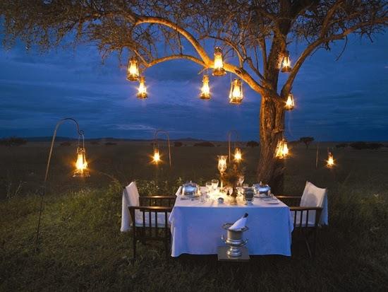 Safari Fusion blog | Romance safari style | A romantic bush dinner on the plains of the Serengeti at Singita Sabora Tented Camp