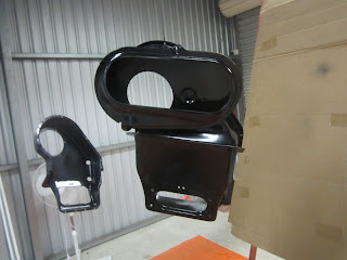 Painted heater parts - Volvo 122S