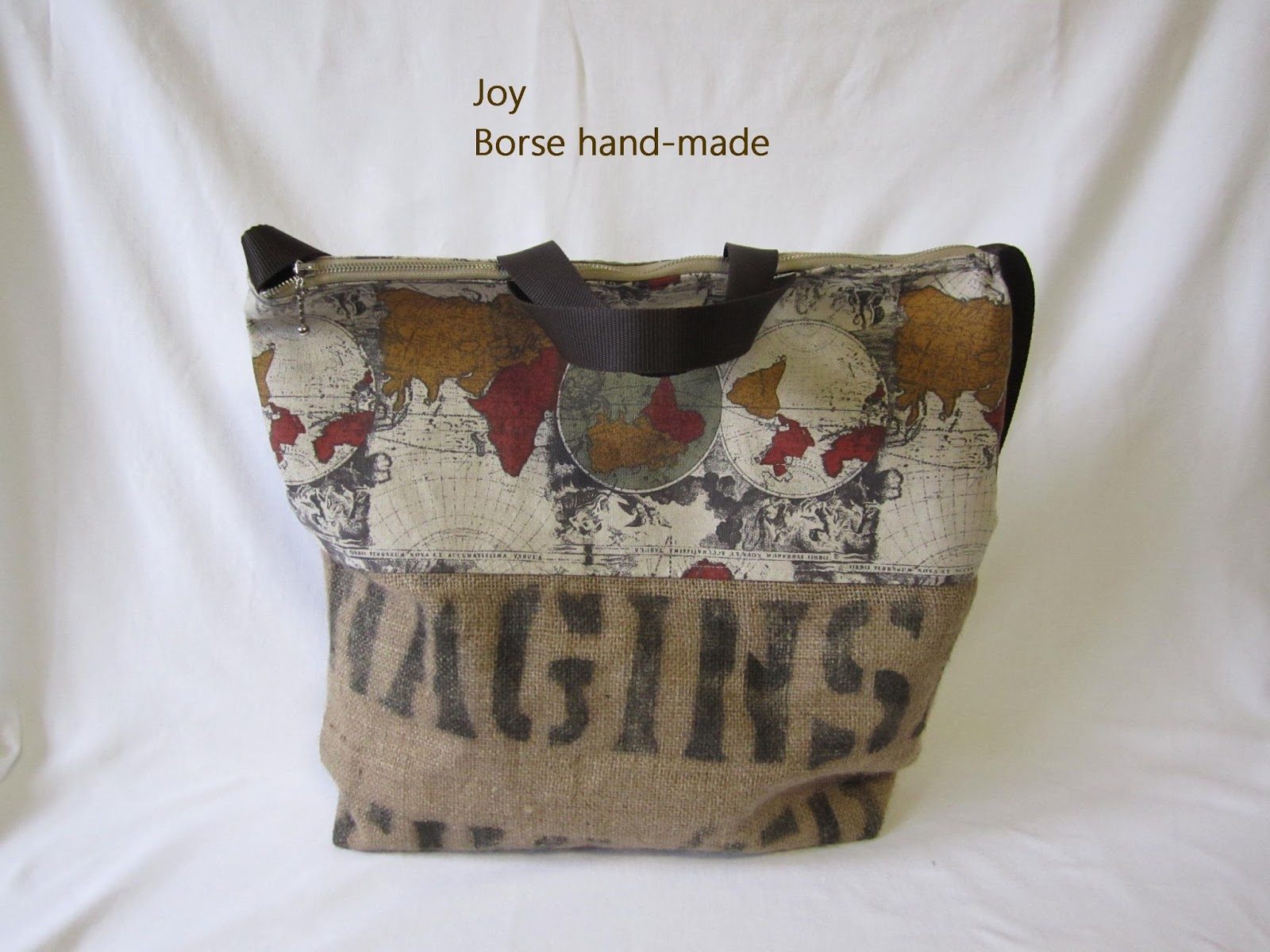 Borse Di Stoffa A Sacco : Joy le borse hand made recupero di sacco juta n