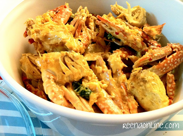 Reena's Online: Resepi : Creamy Butter Crab / Ketam Masak Mentega ...
