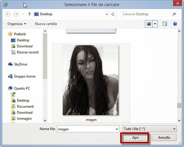 Seleziona il file da caricare - Google Immagini