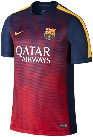 gambar jersey terbaru prematch barcelon awarna biru navy terbaru musim depan 2015/2016