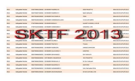 SK Tunjangan Fungsional 2013