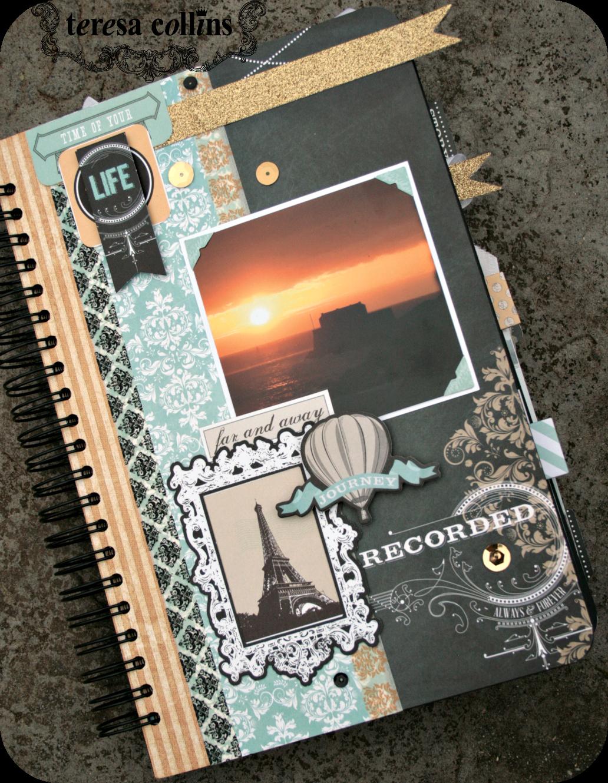 How to scrapbook travel - 12 X 8 Scrapbook Travel Album By Cheri Piles Using The Memorabilia Collection
