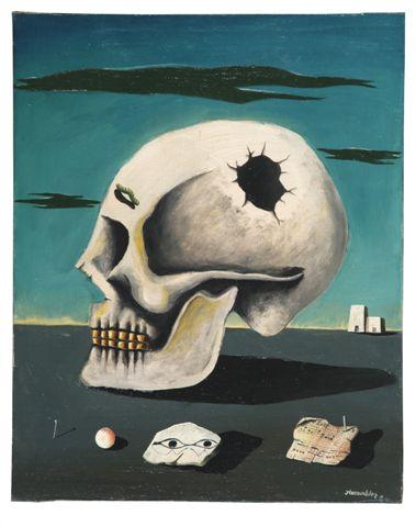 Jacques lacomblez, Les Dialogues posthumes, 1951, coll. galerie Quadri, Bruxelles