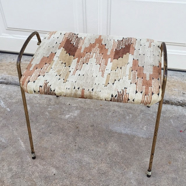 #thriftscorethursday Week 54 | Instagram user: jessecoulter shows off this Brassy Foot Stool