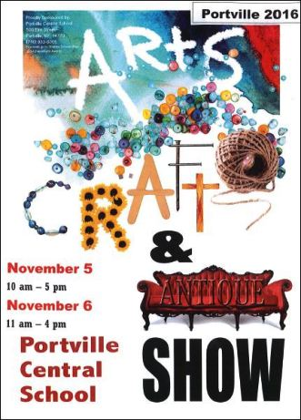 11-5/6 Portville Arts, Crafts & Antique Show