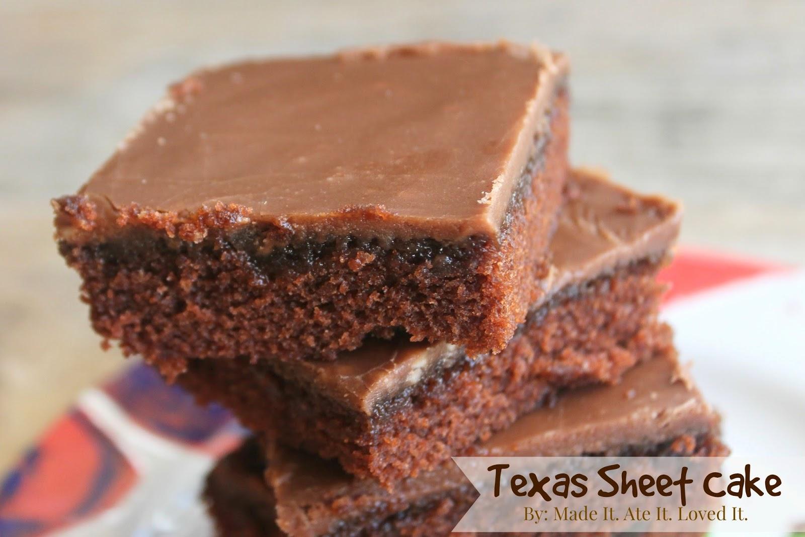 Easy Texas Sheet Cake Brownies