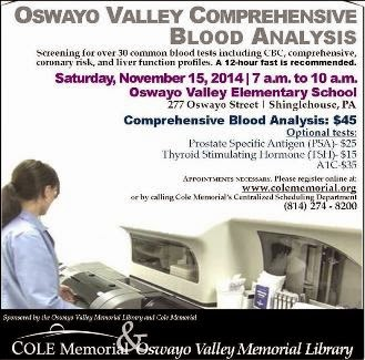 11-15 Oswayo Valley Blood Analysis