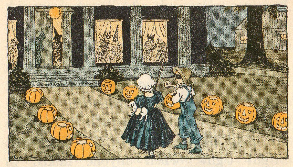 Leaping Frog Designs: Halloween Vintage Trick Or Treat Free Image Vintage Trick Or Treaters