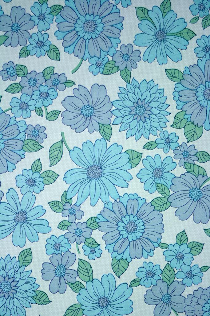 Papier peint vintage à motifs floraux en 25 idées fantastiques - Papier Peint Floral Vintage