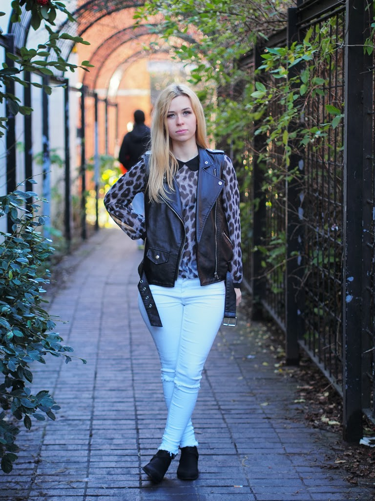leather gilet outfit
