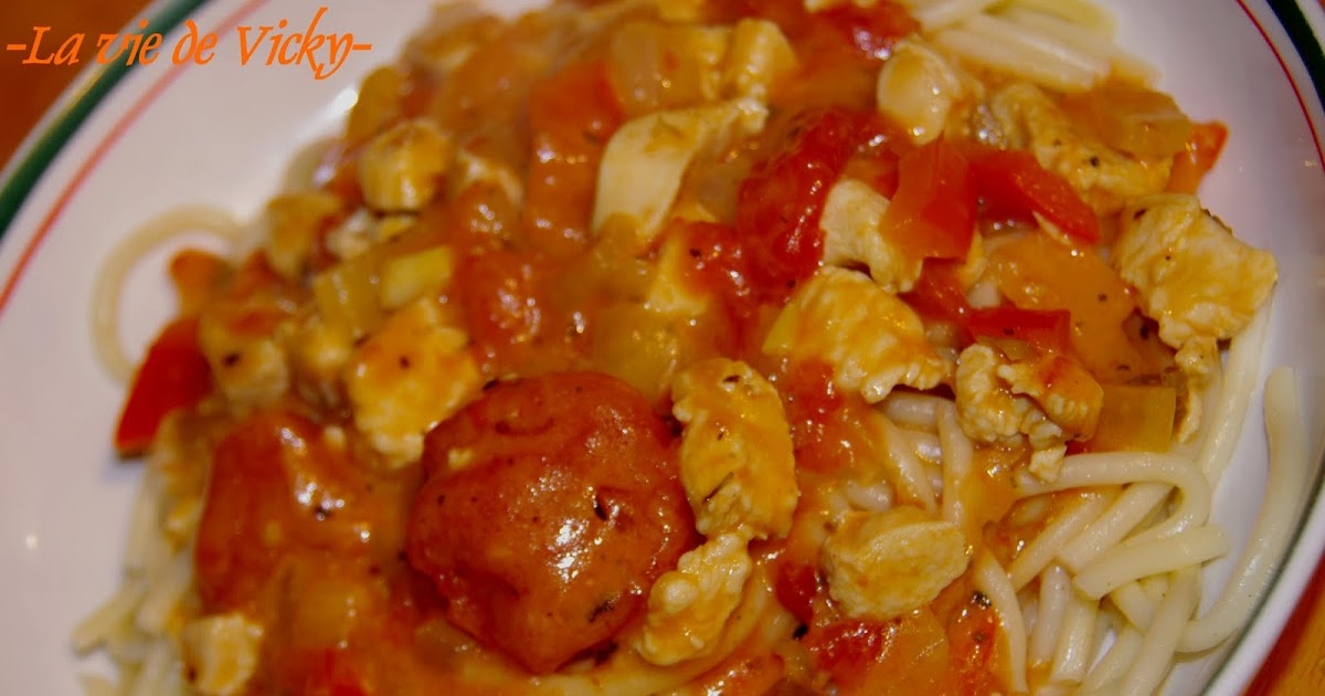ma vie p 226 tes aux tomates au poulet et aux 2 piments
