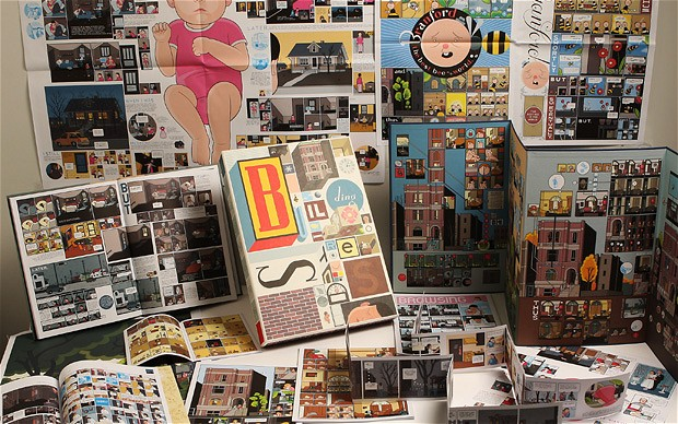 chris ware, building stories, displayed