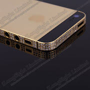 Iphone 5G Electroplating processing Golden Diamond Metal Back Cover
