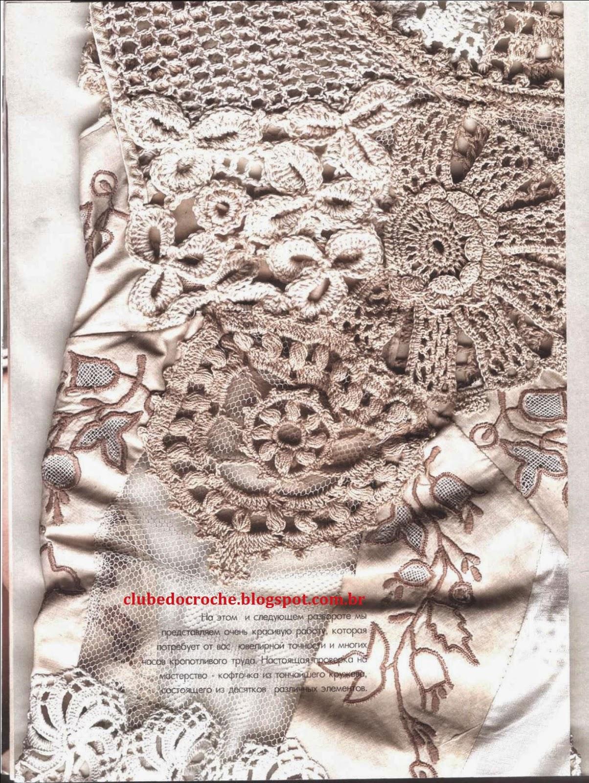 Clube do Crochê: Blusa Estilo Indiano (com gráficos) #9B3031 1204 1600