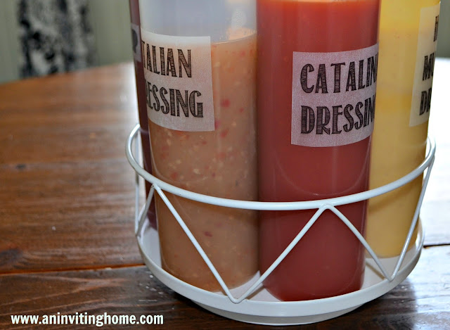 Salad Dressings In One Caddy