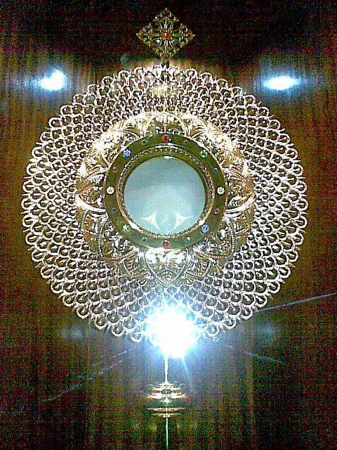 The Holy Eucharist is the living Body, the Blood, the Soul and Divinity, in union with Holy Trinity