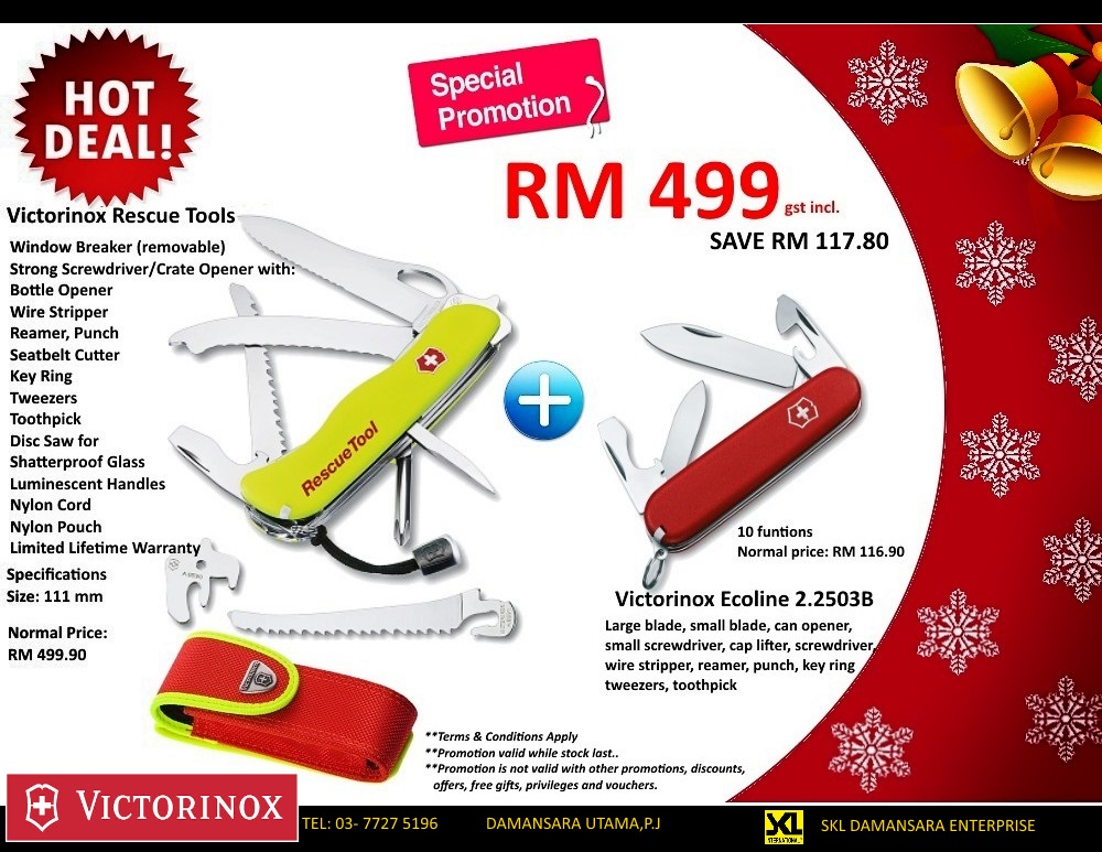 Victorinox Rescue Tools Christmas Promotion Set @ RM 499.