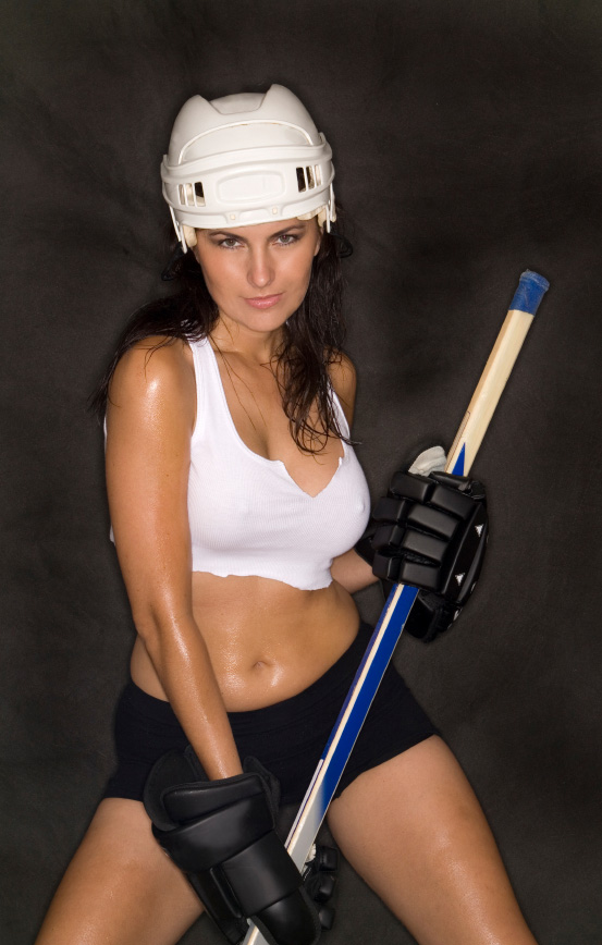 nude girls in hockey jersey