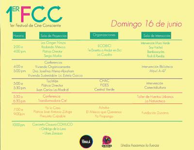 Primer Festival de Cine Consciente en Cine Tonalá