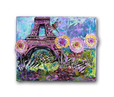 Paris Decor with Eiffer Tower Picture