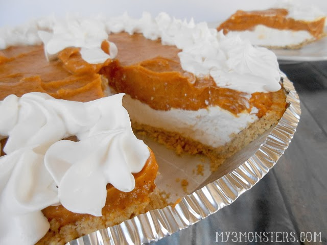 Double Layer Pumpkin Pie recipe at my3monsters.com