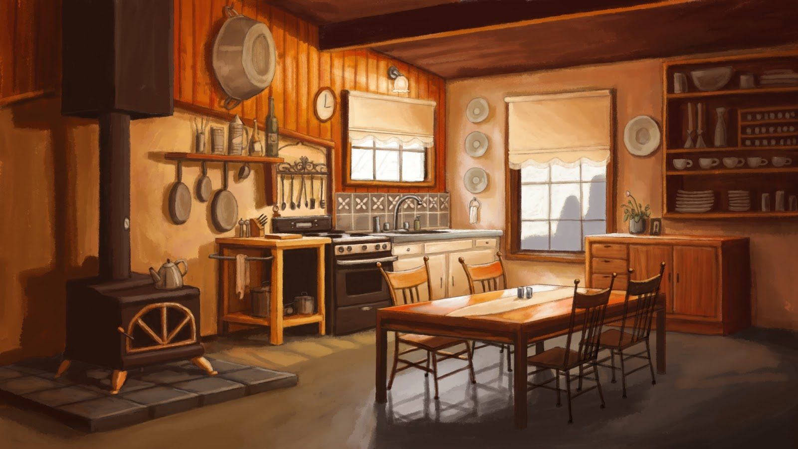 Andrea Gerstmann Art: Kitchen Scene Final