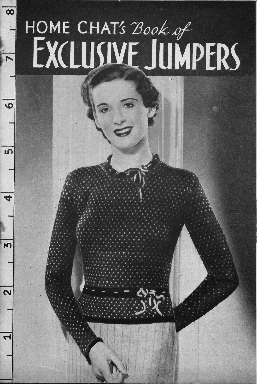1930s Knitting Patterns : The Vintage Pattern Files: 1930s Knitting - Home Chats Exclusive Ju...
