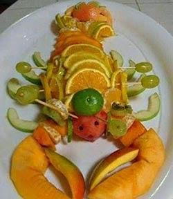 Decoração de pratos para a ceia de Natal - lagosta