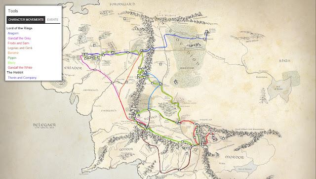Интерактивная карта Средиземья