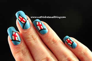 st georges day nail art english flag