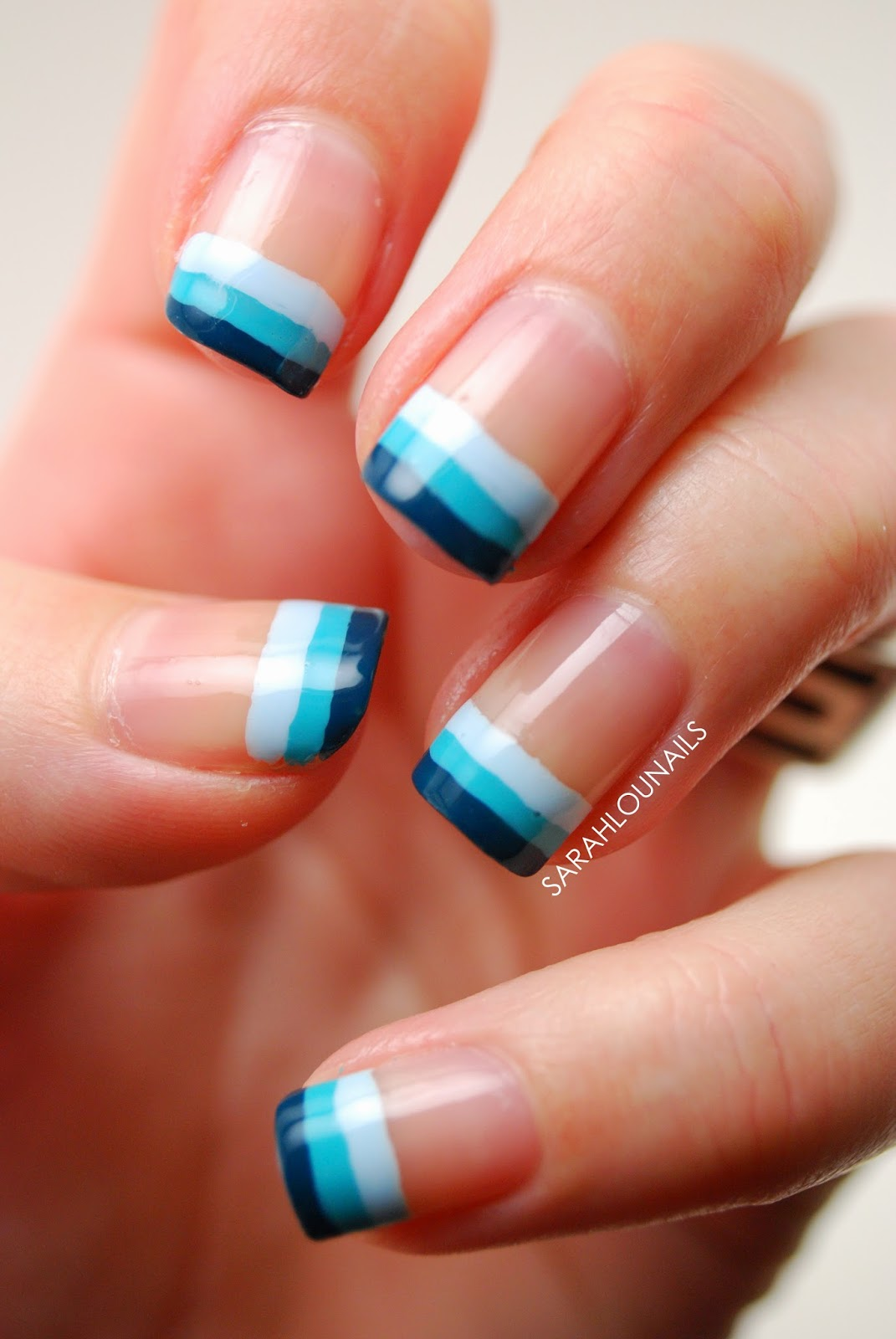 Sarah Lou Nails Blue Ombre Tips