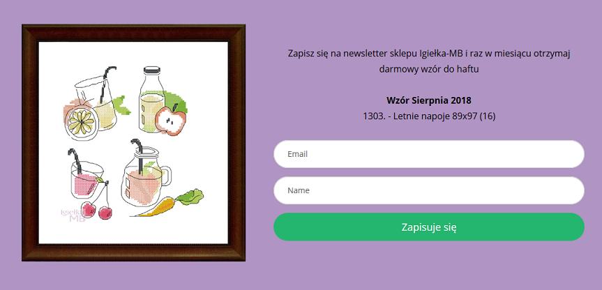 Newsletter sklepu Igiełka-MB