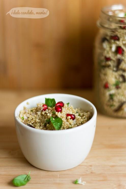 Ensalada de quinoa y berenjena